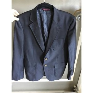 Brooks brothers, navy blue, single breasted blazer